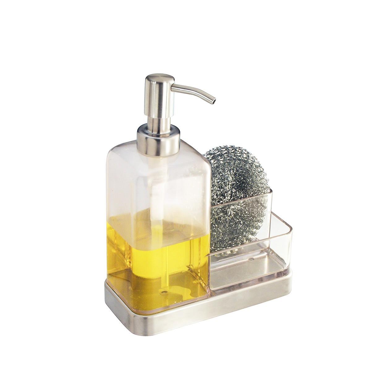 Distributeur de savon et porte ponges - Porte eponge evier ...