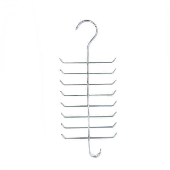 Cintre en métal chromé pour 16 cravates