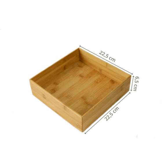 Bac carré en bambou XL
