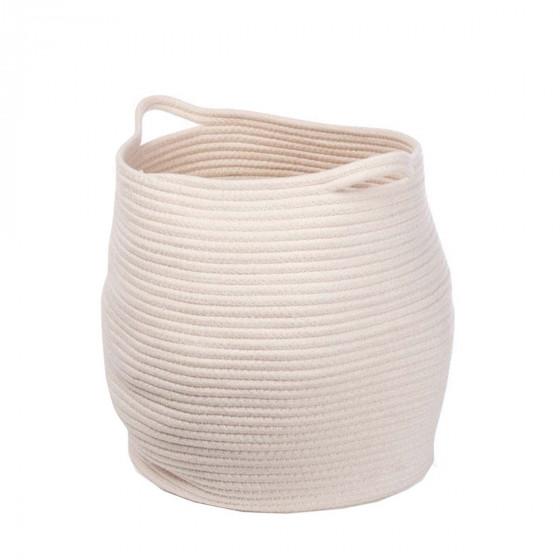 Panier en corde de coton blanc
