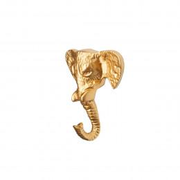 Patère dorée éléphant