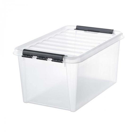 Grande boîte de rangement transparente