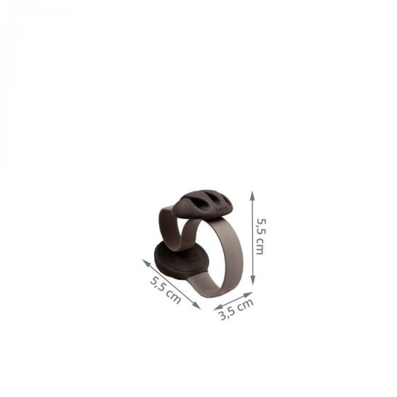 Clip à câbles noir et marron