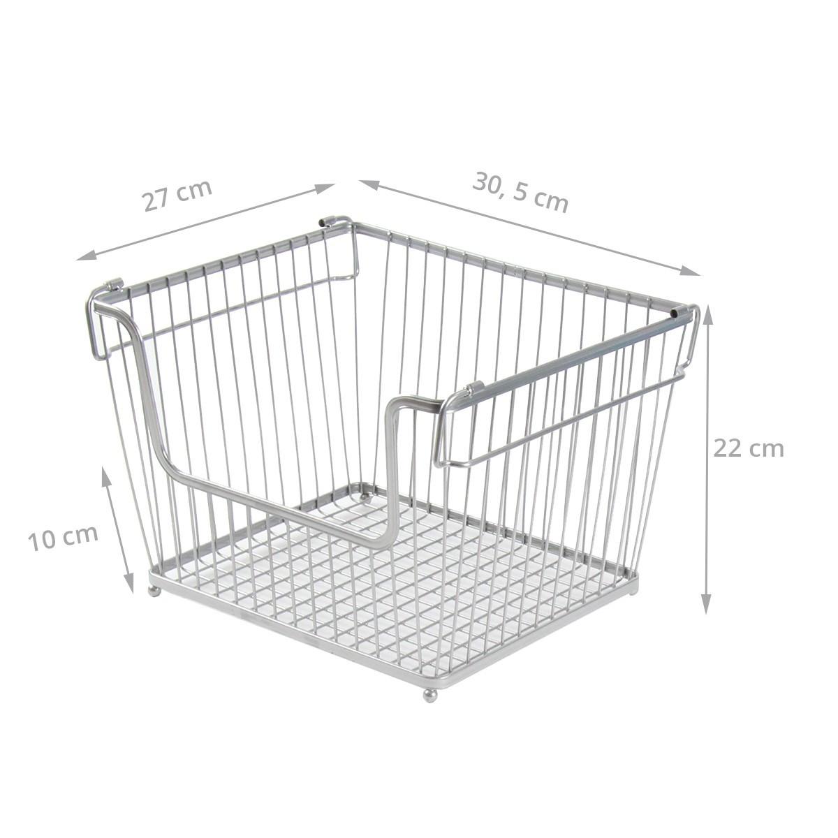 panier m tal empilable pour placard rangement garage. Black Bedroom Furniture Sets. Home Design Ideas