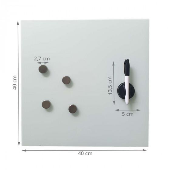 Tableau magnétique en verre blanc