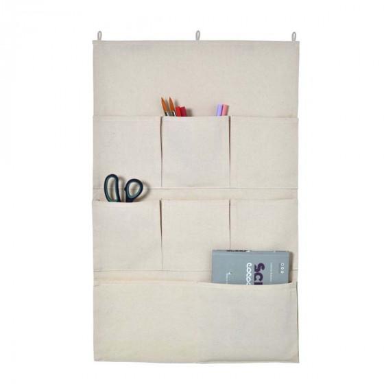 Rangement mural en tissu