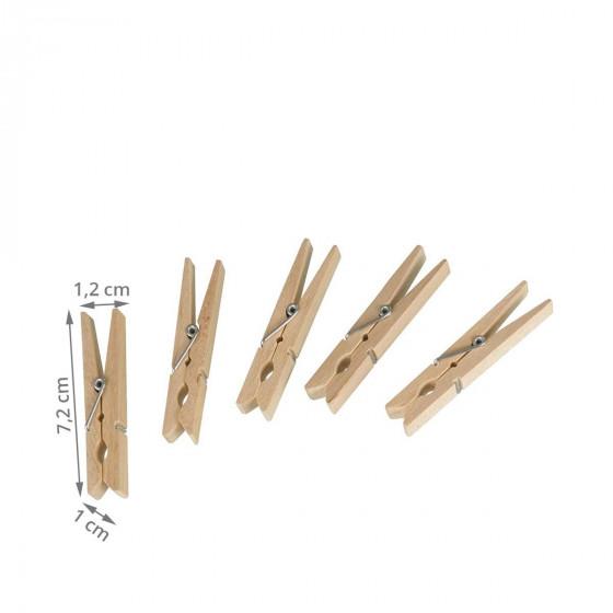 50 pinces à linge en bois FSC