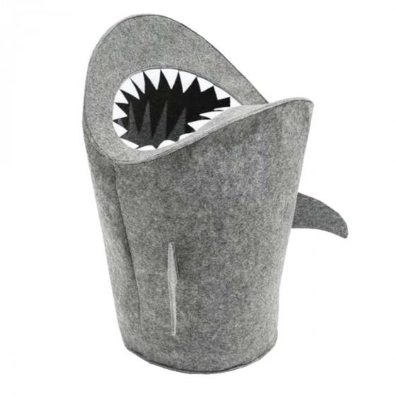 Panier à jouets requin en feutre