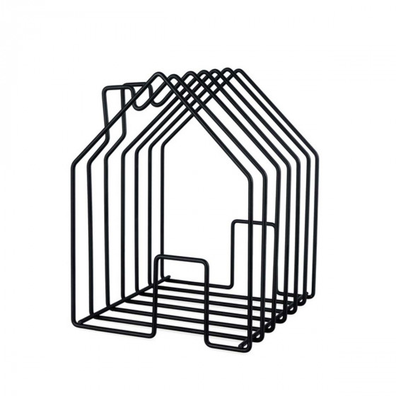 Porte-magazines design noir