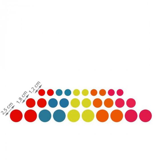 30 aimants ronds colorés