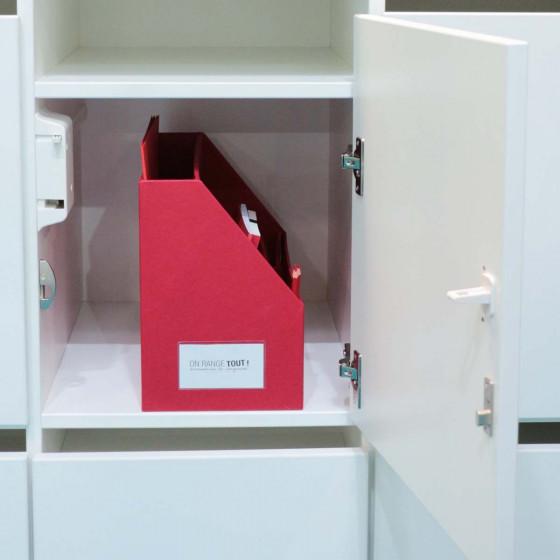 Box de rangement pour bureau partagé