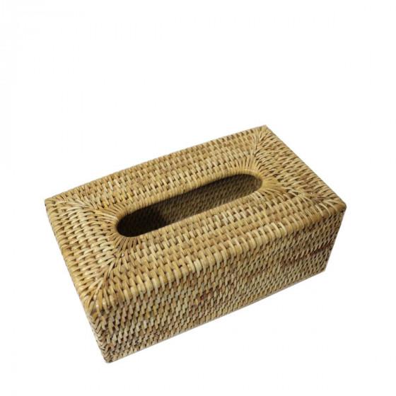Boîte à mouchoirs en rotin