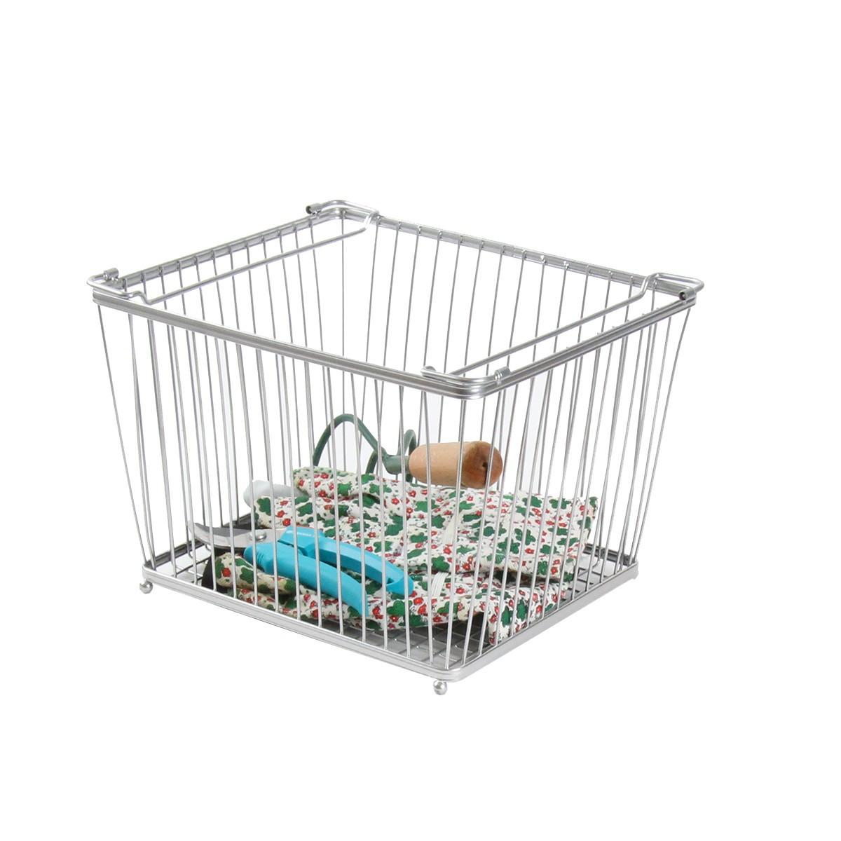 panier m tallique rangement coin jardin. Black Bedroom Furniture Sets. Home Design Ideas