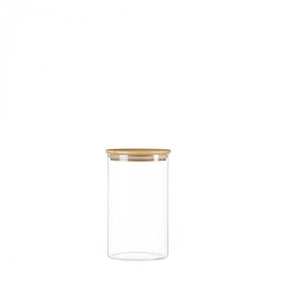 Bocal en verre et bouchon en bois 0,8 litre