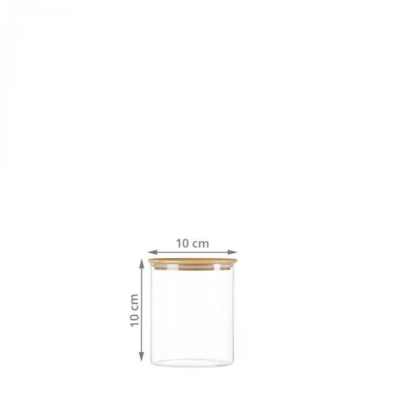 Bocal en verre et couvercle en bois 0,5 litre