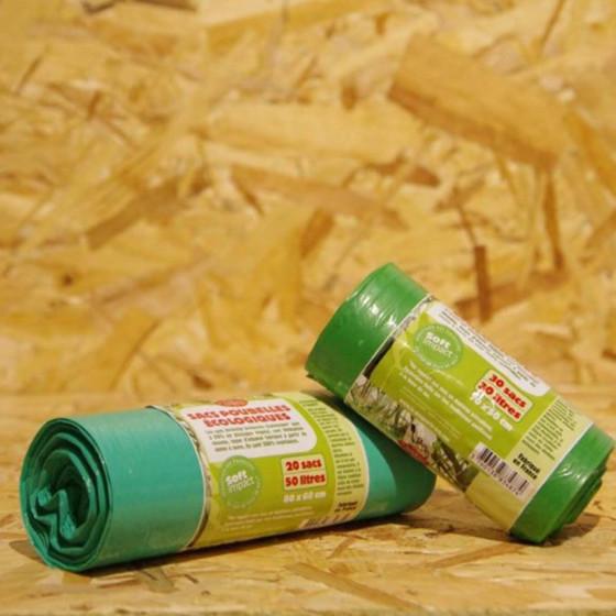 20 sacs poubelle écologiques et français 50 litres
