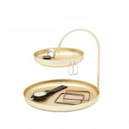 Vide poche doré pour bijoux
