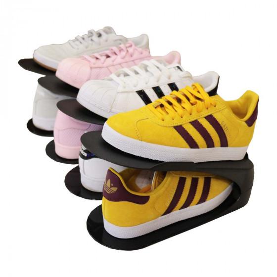 4 range-chaussures gain de place noirs