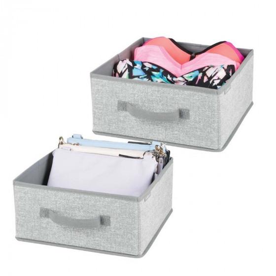 2 tiroirs de rangement en tissu