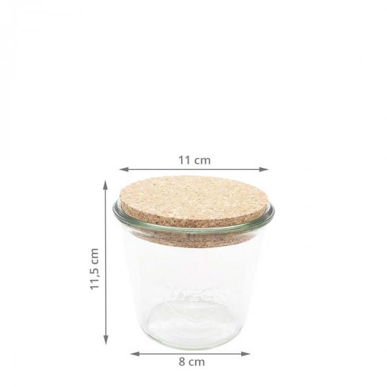Pot en verre avec bouchon en liège 600 ml