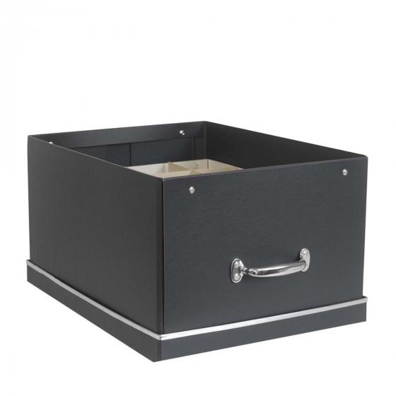 Grande boîte de rangement 40 compartiments Graphite
