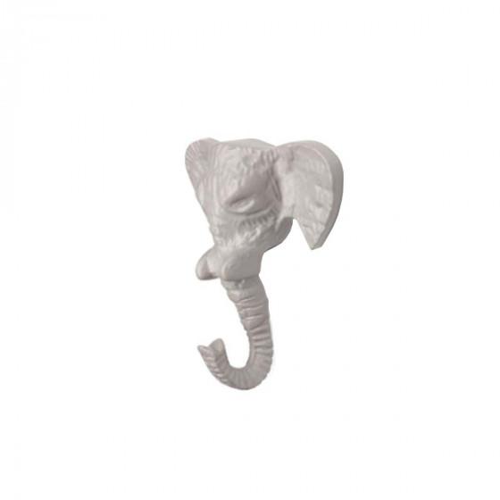 Patère éléphant gris
