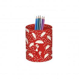 Pot à crayons rouge enfant