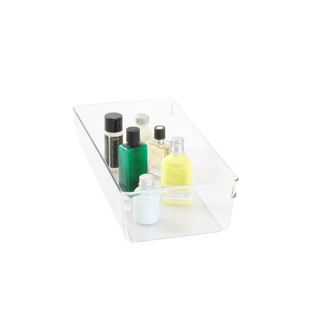 S parateur tiroir en plastique rangement salle de bain for Rangement salle de bain plastique