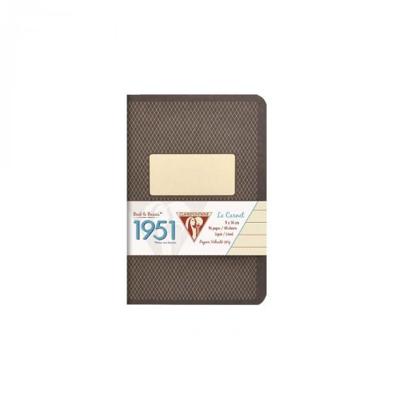 Carnet de notes surpiqué et coloré 9x14
