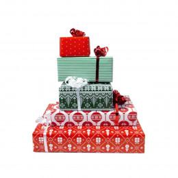 5 rouleaux d'emballage pour cadeaux de Noël