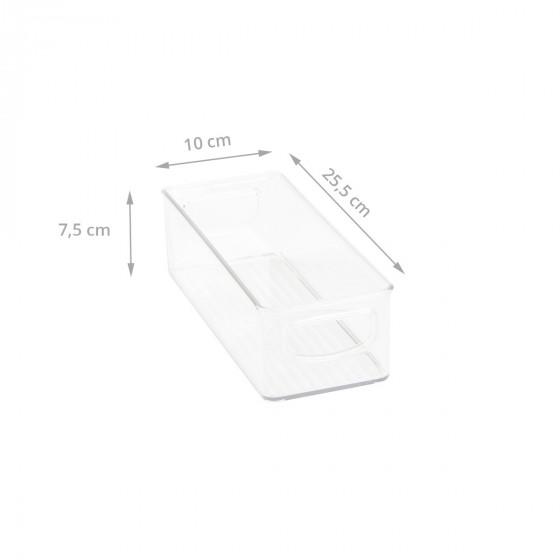 Bac en plastique S transparent et empilable pour organiser placards et tiroirs