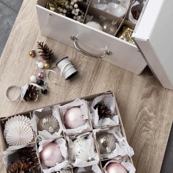 Grande boîte de rangement boules de Noël