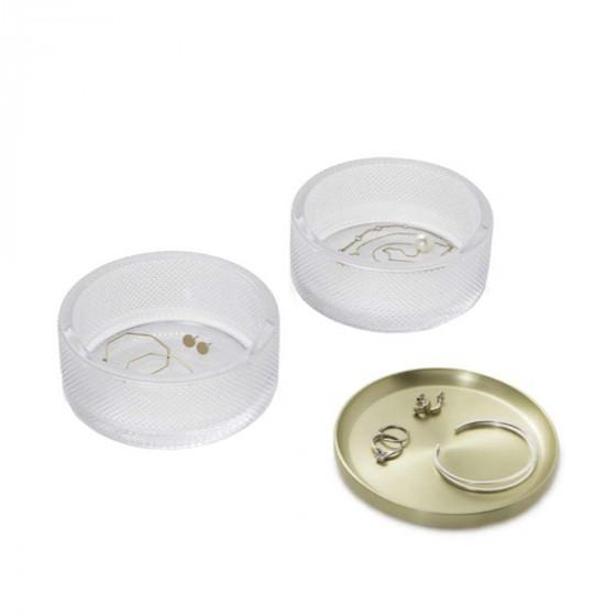 Boîte à bijoux ronde en verre