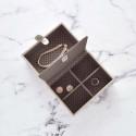 Boîte à bijoux de voyage vanille et café