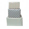 3 rouleaux de papier cadeau pastel à motifs