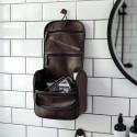 Grande trousse de toilette à suspendre homme en simili cuir