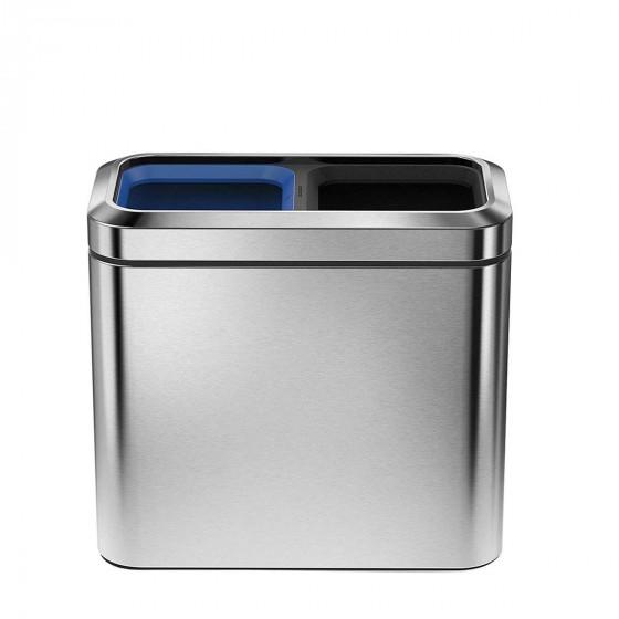 Poubelle de tri pour bureau individuel ou pour salle de bain 2x10 litres