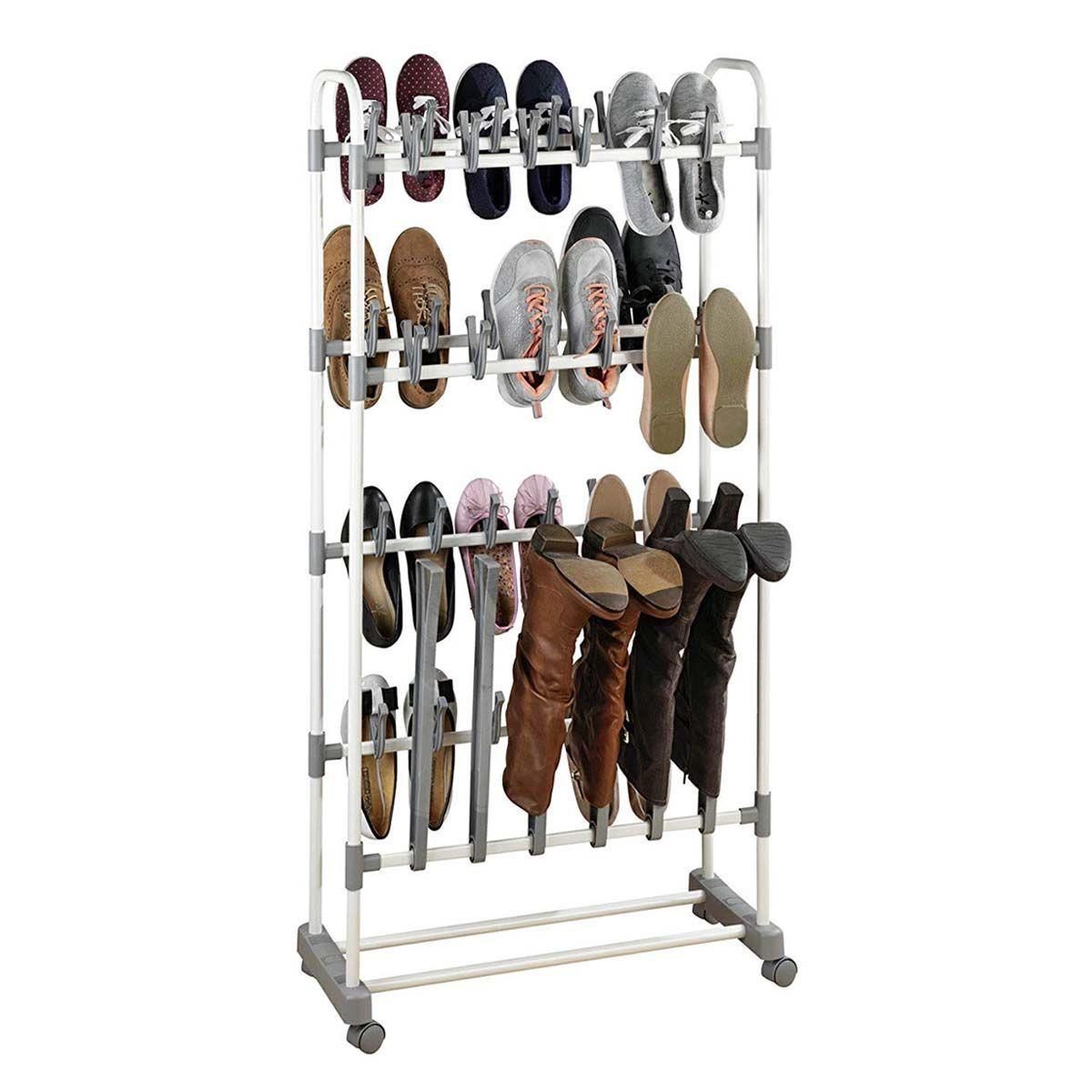 Rangement À Chaussures Gain De Place Étagère à chaussures gain de place sur roulettes
