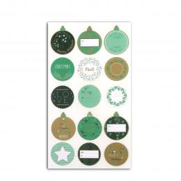 15 stickers pour cadeaux de Noël