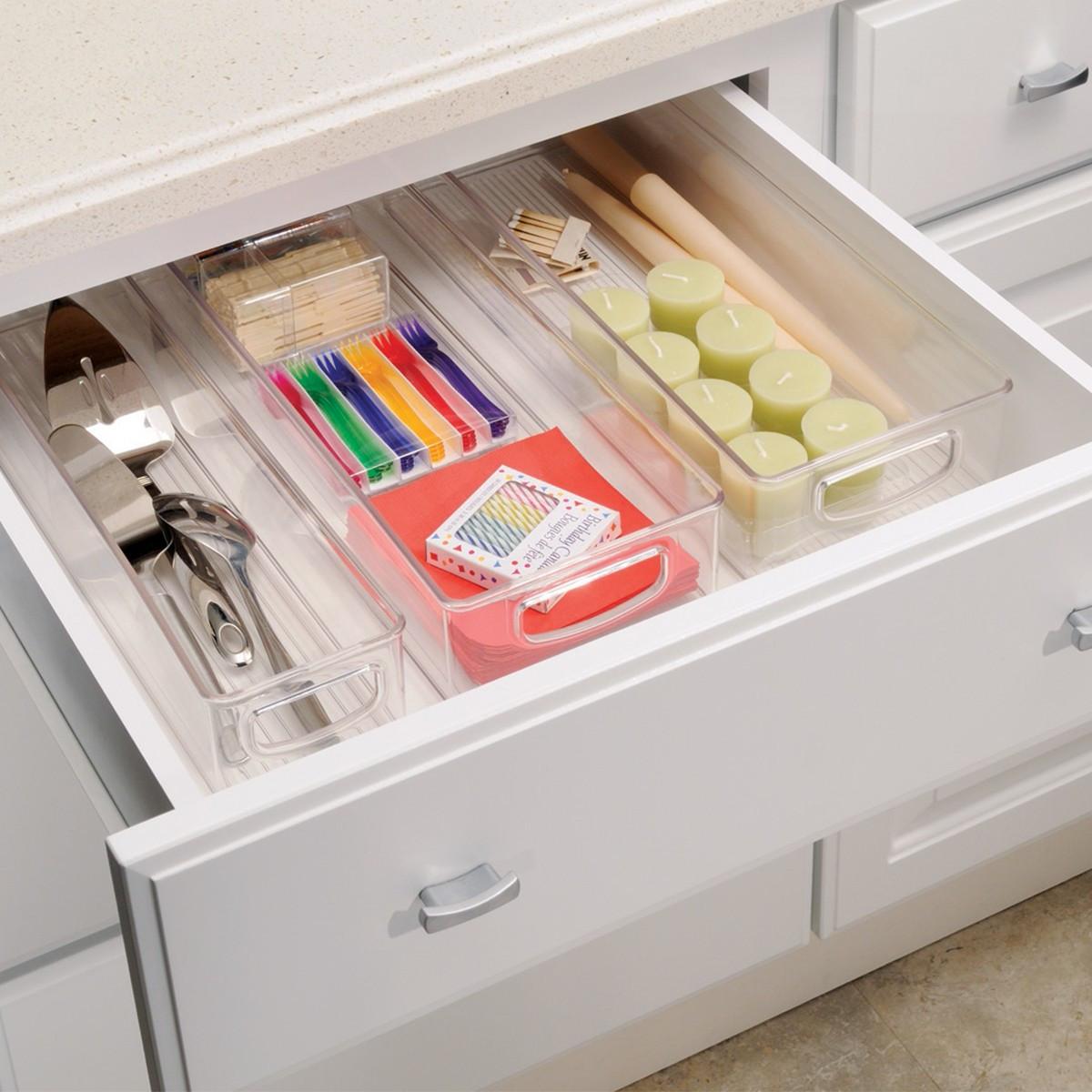 Long bac empilable pour placard rangement cuisine for Organiser ses placards de cuisine