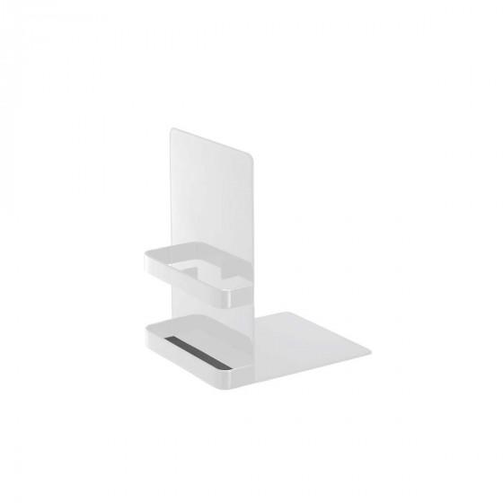 2 serre-livres en métal blanc