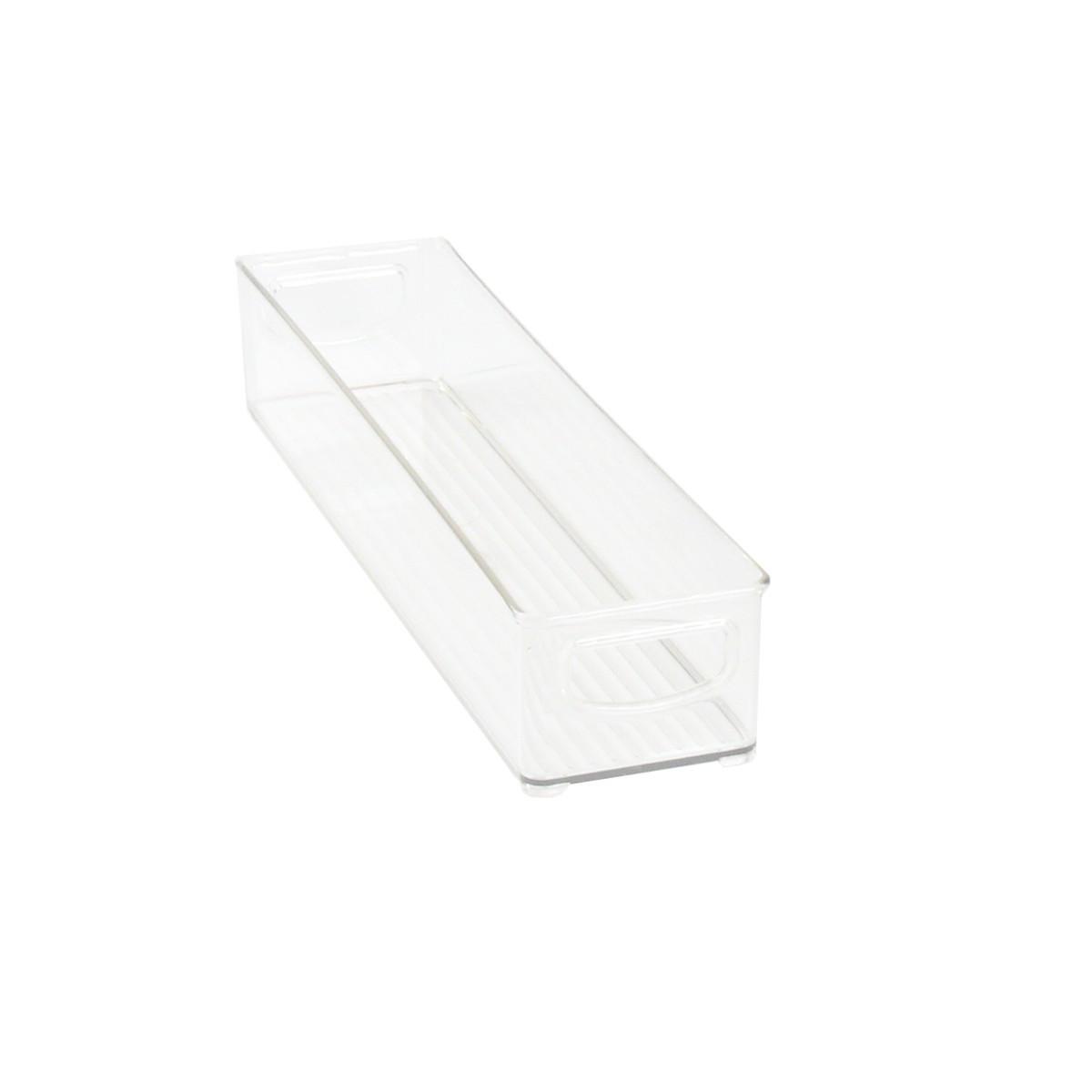 pas cher pour réduction 0334b fa9c2 Long bac en plastique S transparent et empilable pour organiser placards et  tiroirs