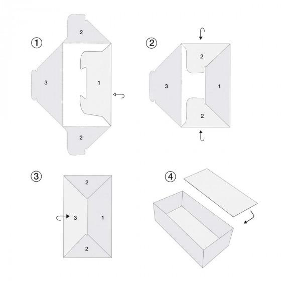 Compartiment en carton pour tiroir de chambre blanc et doré