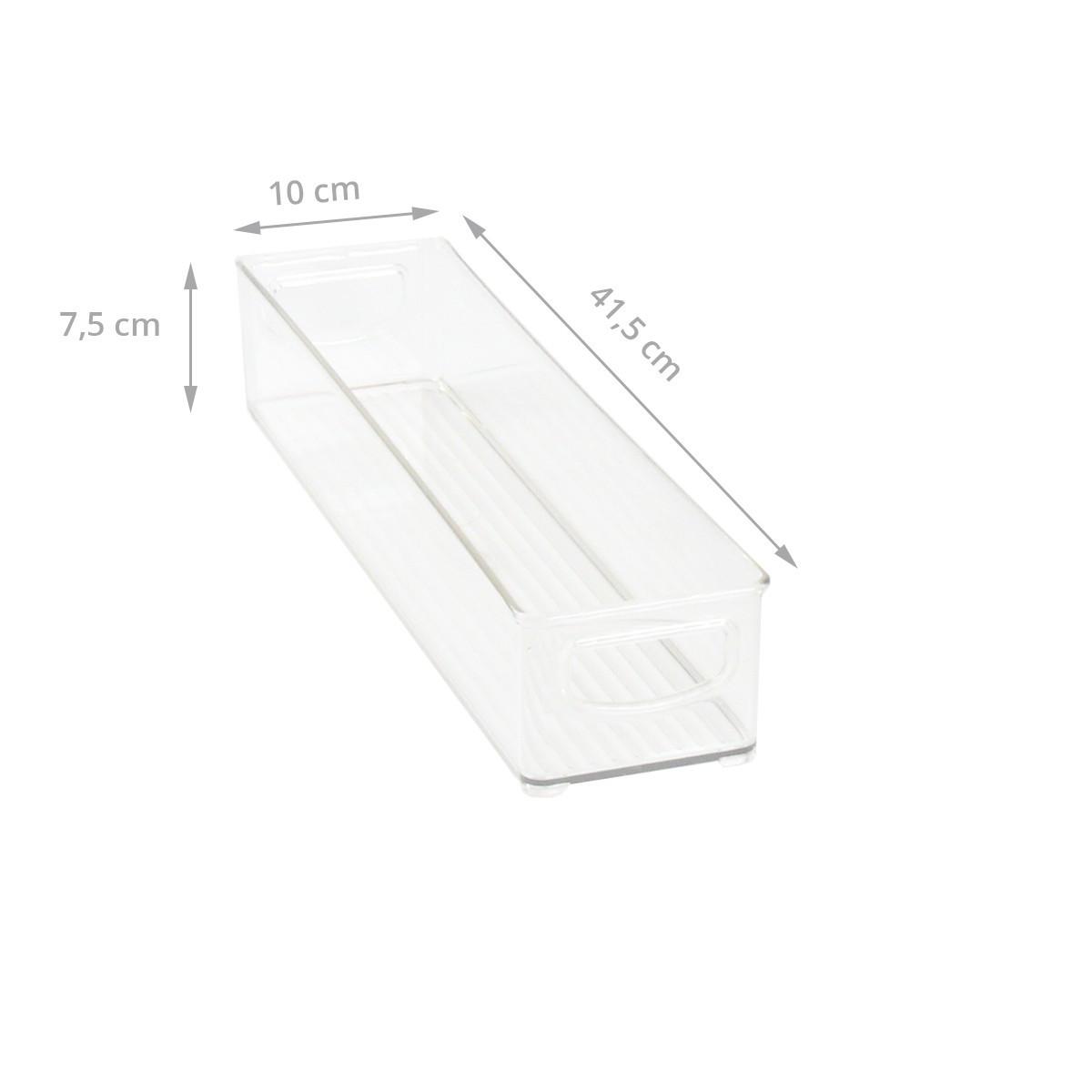 pas cher pour réduction e4b7b e3fe7 Long bac en plastique S transparent et empilable pour organiser placards et  tiroirs