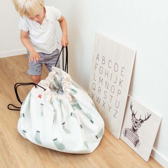 Tapis sac de rangement petit train