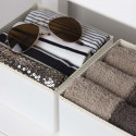 Rangements en carton pour tiroir de chambre - Lot de 2