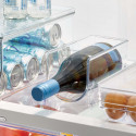 Range-bouteille pour 1 bouteille de vin empilable en plastique transparent