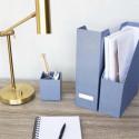 Rangement vertical pour dossiers bleu gris