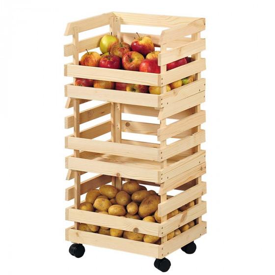 Cagettes Sur Roulettes Meuble De Rangement Fruits Legumes