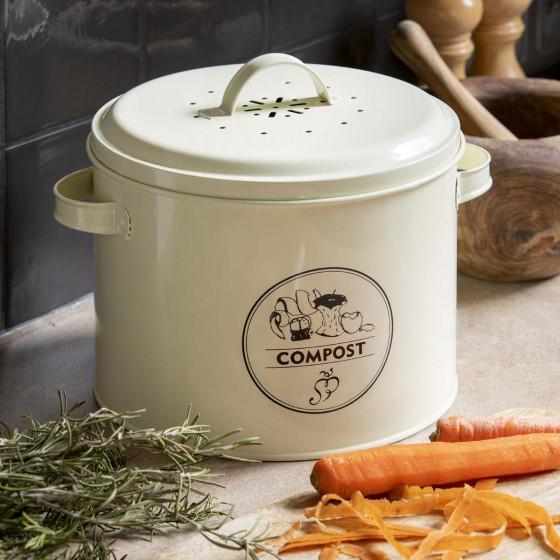 Seau à compost de cuisine avec filtre